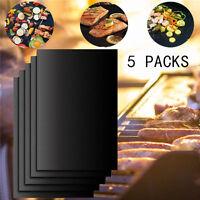 5PCS BBQ Grill Mat Teflon Reusable Sheet Resistant Non-Stick Barbecue BAKE Meat