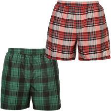 Slazenger Check Bermuda Shorts Badeshorts kurze Hose Gr S M L XL Rot Grün NEU