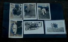 Nice Page of Antique Photographs, 1910s, Early 1920s, Black and White, Dresses