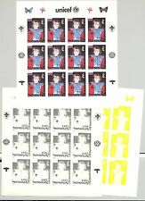 Mongolia #2247m Unicef, UN, Children 1v Imperf M/S of 12 x 7v Progressive Proofs