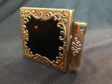 "Vintage Elegant Ornate Metal ""Gold"" Helena Rubinstein Compact & Lipstick Holder"