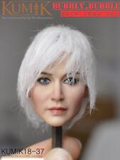 KUMIK 1/6 White Hair Female Head Sculpt KM18-37 For 12'' Female Figure ☆USA☆