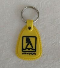Vintage YELLOW PAGES Advertise Fingers Walking Key Ring 1960s-1970s Bell System