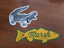 2 Marsh Wear stickers decals Saltwater Fishing Apparel