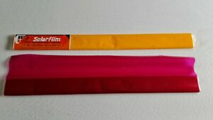 Solarfilm - DK Yellow and Raspberry  Shrink-on Covering Material RC Models