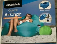 CLEVERMADE QUICK FILL AIR CHAIR Indoor HANGOUT Beach/Outdoor Recliner Lime Green