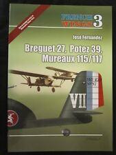 French Wings No.3  Breguet 27 - Potez 39 - Mureaux 115/117 - Color Profiles, BW