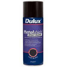 Dulux Metalshield 300g Satin Black Epoxy Enamel Spray Paint