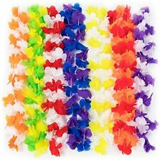 Party Supplies Hawaiian Lei Flower Necklaces, 12-pack