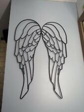 Large Wrought Iron Metal Art Angel Wings Garden Wall Decor