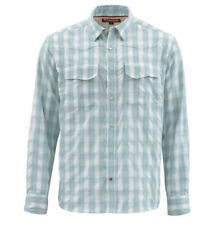 Simms Big Sky LS Shirt - Fog Plaid - Large - Sale & Free US Shipping