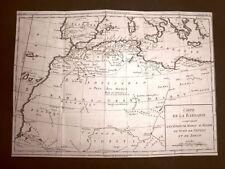 Marocco Algeria Libia Acquaforte 1779 Mappa Histoire Universelle chez Moutard