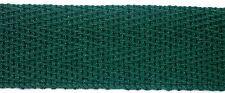 20mm x 5metres Bottle Green 100% Cotton Herringbone Webbing 739301531387 NEW