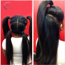 Full Lace Hair Wig Yaki Straight Brazilian Human Hair Wigs for African American