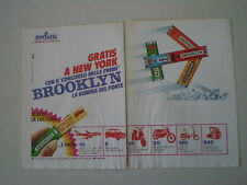 advertising Pubblicità 1971 BROOKLYN CHEWING GUM GOMME PERFETTI