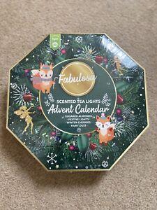 Fabulosa Scented Tea Lights Christmas Advent Calender Brand new 24 Tea lights