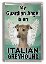 "Italian Greyhound Dog Fridge Magnet ""My Guardian Angel is a ....."" by Starprint"