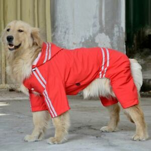 Dog Raincoat Reflective Clothes For Pets Comfortable Waterproof Outdoor Rainwear