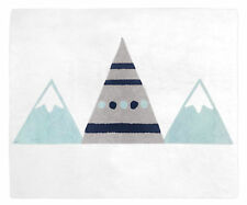 Baby Kids Teen Girl Boy Floor Rug For Sweet Jojo Blue Grey Mountains Bedding Set
