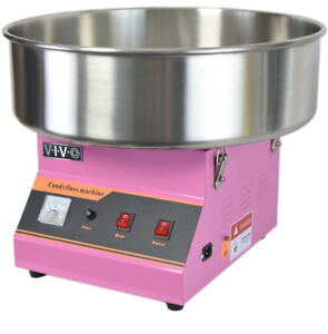 Electric Commercial Cotton Candy Machine / Floss Maker Pink VIVO CANDY-V001