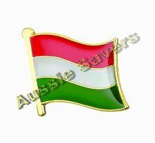 HUNGARY FLAG HAT PIN / BADGE / BROOCH - BRAND NEW