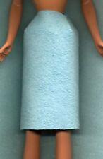 Barbie Doll Clothes - Aqua Knee Length Skirt - Genuine Suede Leather