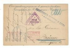 1917 Italy WWI POW Postal Card, Censored to Brunn Austria - Germany Aderno
