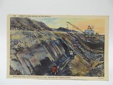 Vintage Early 1900's Postcard - Largest Steam Shovel, Anthracite Coal Region, PA