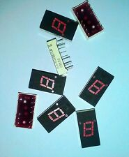 8PCS OF ELS-322IDB, RED 7 SEGMENT LED DISPLAY'S