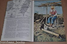 1957 magazine article about FORMOSA, Taiwan, history, people etc, color photos