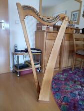 Harfe, Bauernharfe, Selbstgebaut, 29 Saiten, diatonisch, Höhe ca. 1,15m