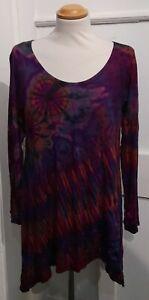 FAIR TRADE - Gringo Tie Dye Tunic Top - one size (4)