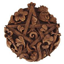 Cimaruta Italian Witchcraft Pentacle Plaque Wood Finish Dryad Design Pentagram