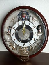 """Seiko  COLLECTOR'S Melodies in Motion wall clock Swarovski crystals 18""""X15"""""""