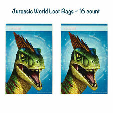 Jurassic World Dinosaurs Loot Bags Kids Birthday Party Favor 16ct T-Rex Gift Bag