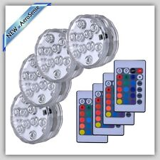 Swimming Pool Led Lights Underwater Light Remote Control Floor Mount 4 Pieces