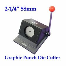 """Round 2-1/4"""" 58mm Multi Sheets Stack Paper Graphic Punch Die Cutter Button Maker"""