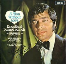 """Engelbert Humperdinck - English Singer In Person Signed 12"""" Album Cover."""