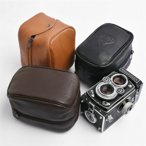 Rolleiflex Rolleicord Genuine Leather Bag Protective Bag Soft Black Coffee New