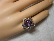 Diamond Amethyst 14K Ring Estate Jewelry Vintage Engagement Cocktail ring
