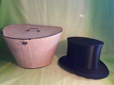 Antiker Zylinder Chapeau Claque Klappzylinder Schutzmarke + Hutschachtel Gr. 55