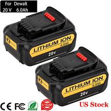 6.0Ah Upgraded For Dewalt 20V MAX XR Li-Ion Battery DCB205 DCB204 DCB200 DCB203