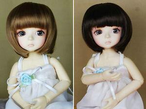 "2 Wig Set 5-6"" Brown/Dark Brown Synthetic BOB wigs for Lati-Yellow Doll"