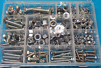 1/4 to 1/2UNC Stainless Assorted Pack 326 pieces-mixed kit of bolts,nuts,washers