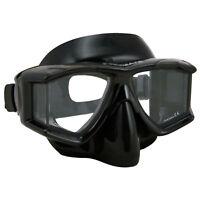 Promate Panoramic 4-Window Purge Mask Scuba Dive Snorkeling Spearfishing Goggle