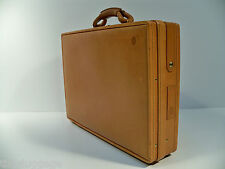 "Hartmann Belting Leather 4"" Slim Attache Briefcase - Rare Single Lock Model"