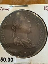 1821 MEXICO FERDINAND VII 8 REALES SILVER COIN
