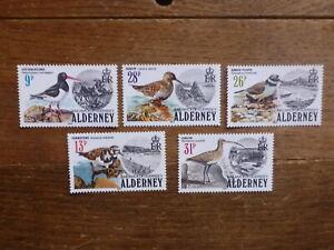 ALDERNEY 1984 BIRDS SET 5 MINT STAMPS