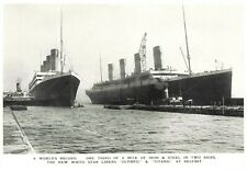 Postcard, Sister Ships White Star Liners RMS Titanic & Olympic at Belfast