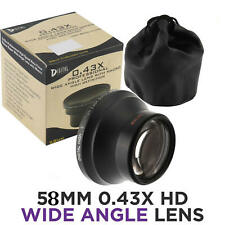 58mm Wide Angle Lens w/ Macro for Canon 18-55mm f/3.5-5 55-250mm f/4-5.6